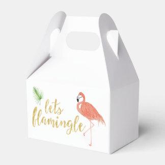 Caixa de presente feita sob encomenda do flamingo