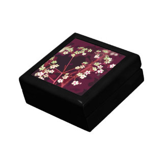 Caixa de presente floral do vermelho