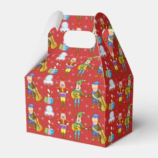 Caixa de presente musical do Natal dos duendes