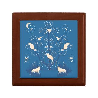 Caixa de presente pequena do azulejo dos Tomcats