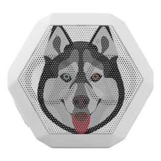 Caixa De Som Branca Com Bluetooth A ilustração persegue o rouco Siberian da cara