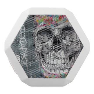 Caixa De Som Branca Com Bluetooth Auto-falante cinzento do crânio dos grafites