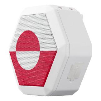 Caixa De Som Branca Com Bluetooth Bandeira de Greenland