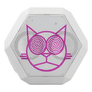 Caixa De Som Branca Com Bluetooth Catpong