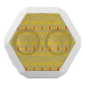 Caixa De Som Branca Com Bluetooth corajoso retro funky em auto-falante da mostarda