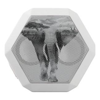 Caixa De Som Branca Com Bluetooth Elefante - arte da exposição dobro