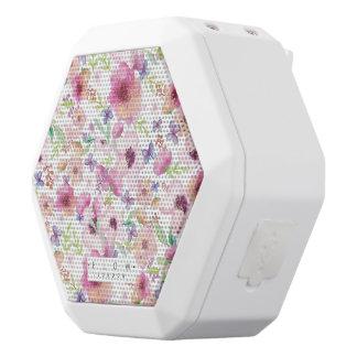 Caixa De Som Branca Com Bluetooth Fluxo - LONDRES - auto-falante floral de Bluetooth