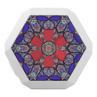 """Caixa De Som Branca Com Bluetooth Geometria sagrado REX de """"Nichito"""" Boombot daqui"""