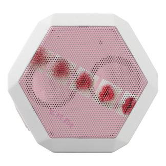 Caixa De Som Branca Com Bluetooth Lábios cor-de-rosa na tinta e no batom