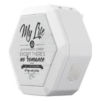 Caixa De Som Branca Com Bluetooth Minha vida é como uma comédia romântica