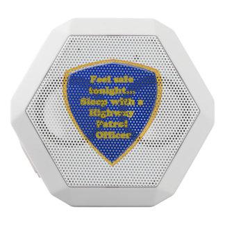 Caixa De Som Branca Com Bluetooth Oficial de patrulha da estrada