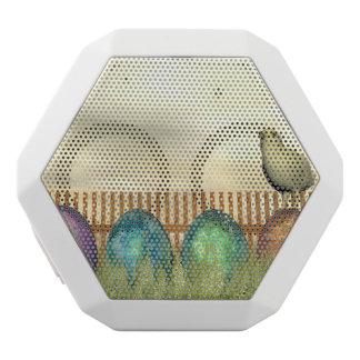Caixa De Som Branca Com Bluetooth Ovos coloridos para a páscoa - 3D rendem