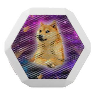 Caixa De Som Branca Com Bluetooth pão - doge - shibe - espaço - uau doge