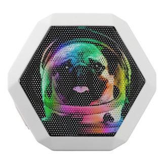 Caixa De Som Branca Com Bluetooth Pug do astronauta - pug da galáxia - espaço do pug
