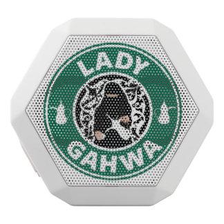 Caixa De Som Branca Com Bluetooth Senhora Gahwa Auto-falante