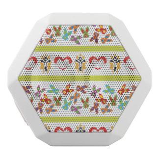 Caixa De Som Branca Com Bluetooth Teste padrão psicótico da páscoa colorido