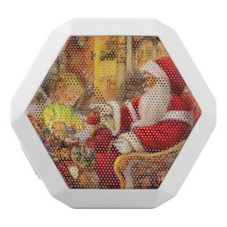 Caixa De Som Branca Com Bluetooth Trenó do papai noel - ilustração de Papai Noel