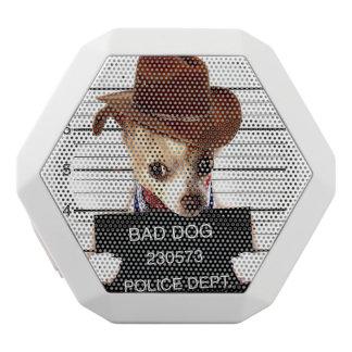 Caixa De Som Branca Com Bluetooth vaqueiro da chihuahua - cão do xerife