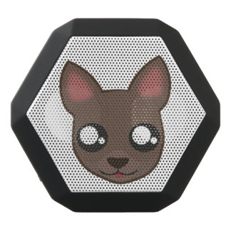 Caixa De Som Preta Com Bluetooth A chihuahua de Kawaii está olhando o boombotrex