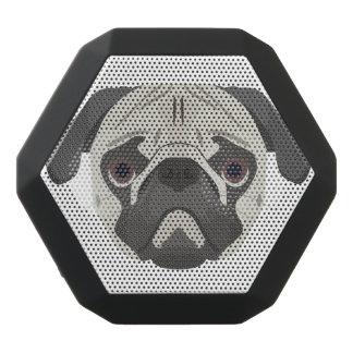 Caixa De Som Preta Com Bluetooth A ilustração persegue o Pug da cara