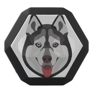 Caixa De Som Preta Com Bluetooth A ilustração persegue o rouco Siberian da cara