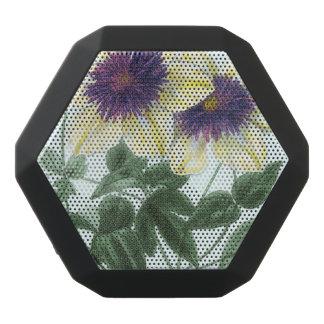 Caixa De Som Preta Com Bluetooth Arte da flor do Clematis