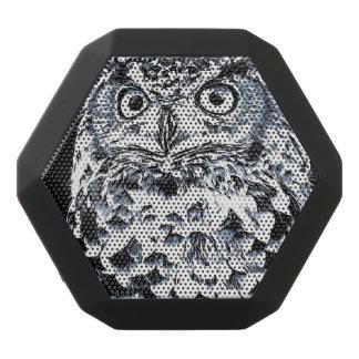 Caixa De Som Preta Com Bluetooth Arte grande da coruja Horned