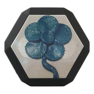 Caixa De Som Preta Com Bluetooth Auto-falante azul da flor