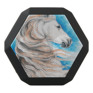 Caixa De Som Preta Com Bluetooth Azul andaluz do cavalo