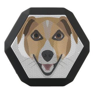 Caixa De Som Preta Com Bluetooth Cão Terrier de sorriso da ilustração