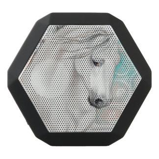 Caixa De Som Preta Com Bluetooth Cavalos andaluzes azuis