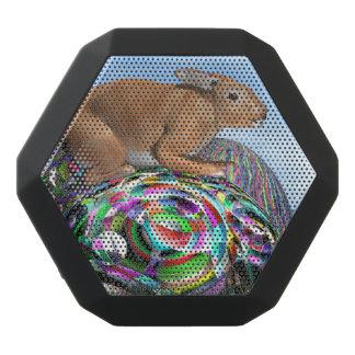 Caixa De Som Preta Com Bluetooth Coelho em seu ovo colorido para a páscoa - 3D