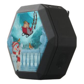 Caixa De Som Preta Com Bluetooth Design do Natal, Papai Noel