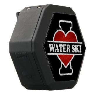 Caixa De Som Preta Com Bluetooth Eu amo o esqui de água