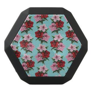 Caixa De Som Preta Com Bluetooth flores rosas vermelha na luz da cerceta