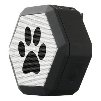 Caixa De Som Preta Com Bluetooth Impressão da pata