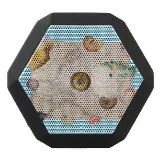 Caixa De Som Preta Com Bluetooth Listras azuis do tesouro marinho