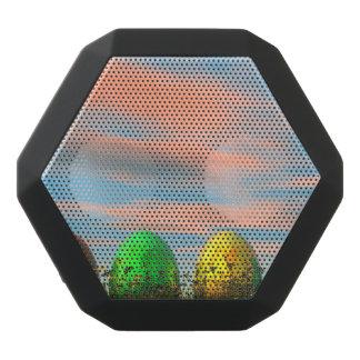 Caixa De Som Preta Com Bluetooth Ovos coloridos para a páscoa - 3D rendem