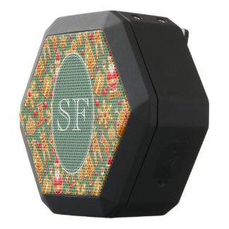 Caixa De Som Preta Com Bluetooth Papai noel e monograma festivos do pão-de-espécie