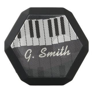 Caixa De Som Preta Com Bluetooth Teclado de piano preto e branco feito sob