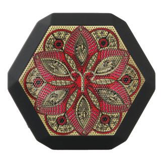 Caixa De Som Preta Com Bluetooth Vermelho e Aries do sinal do zodíaco do ouro