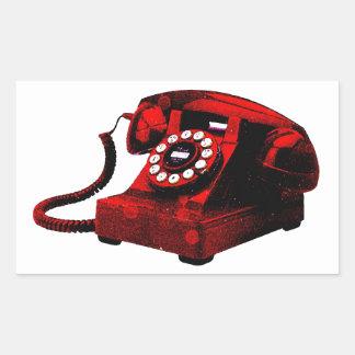 Caixa de telefone velha da mesa do pop art adesivo retangular
