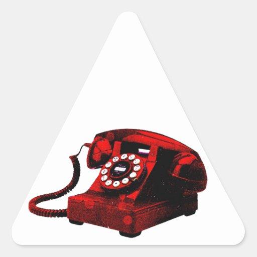 Caixa de telefone velha da mesa do pop art adesivos triângulo