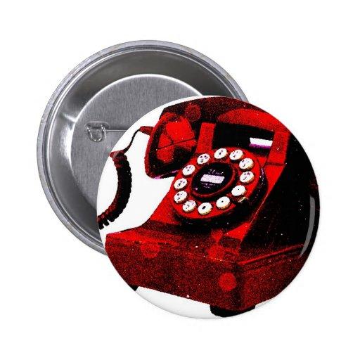 Caixa de telefone velha da mesa do pop art botons
