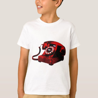 Caixa de telefone velha da mesa do pop art camiseta