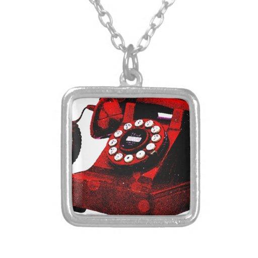 Caixa de telefone velha da mesa do pop art pingente