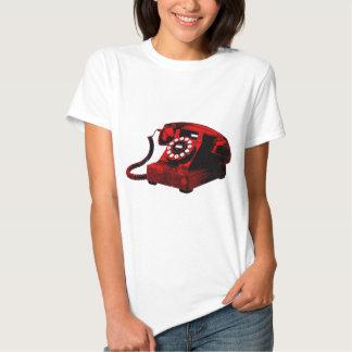 Caixa de telefone velha da mesa do pop art t-shirts