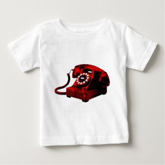 Caixa de telefone velha da mesa do pop art t-shirts