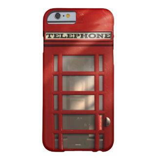 Caixa de telefone vermelha britânica do vintage capa barely there para iPhone 6