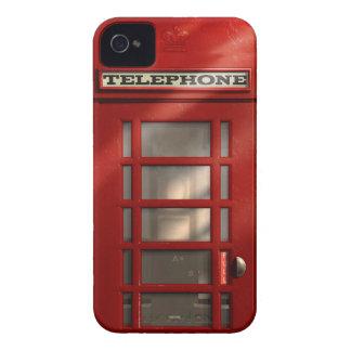 Caixa de telefone vermelha britânica do vintage capinhas iPhone 4